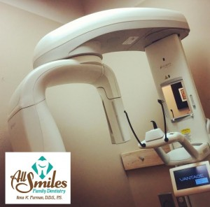 The digital panoramic X-ray machine is unique in it's ability to capture clear images to allow the dentist to make proper diagnosis for head and neck areas, including wisdom teeth and jaw joints.