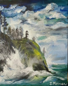 Washington Waves, Acrylic on Canvas. -I Furman- 1-6-16